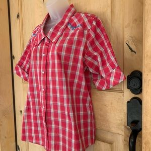 Bit & Bridle Western Button Down Festival Shirt